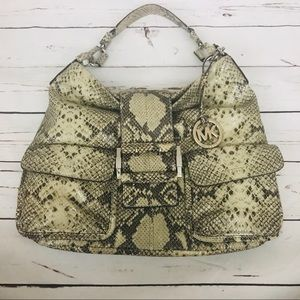Michael Kors Snakeskin Hobo Shoulder Bag